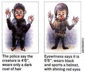Police report sketch